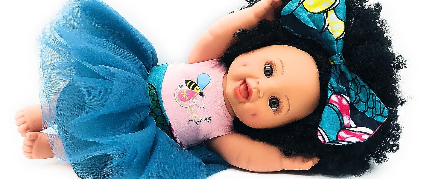 black doll, afro doll, latino doll, hispanic doll, biracial doll, african american doll, curly doll