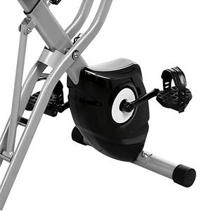 Profun Bicicleta Estática Plegable App 10 Niveles de Resistencia Magnética, Bicicleta de Ejercicios con Tableta/Soporte para Teléfono y Asiento Grande y Cómodo (Azul sin Respaldo): Amazon.es: Deportes y aire libre