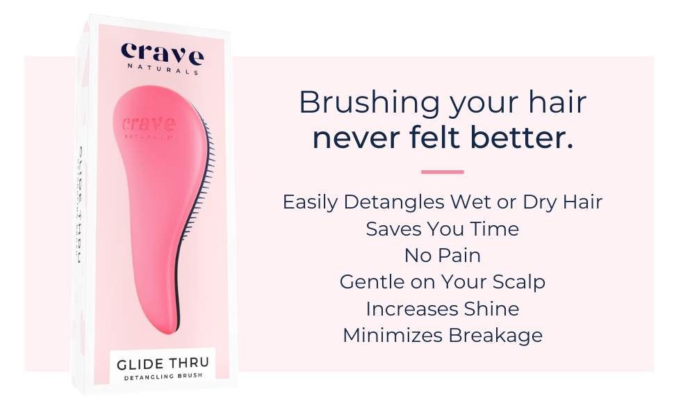 Detangling Brush by Crave Naturals