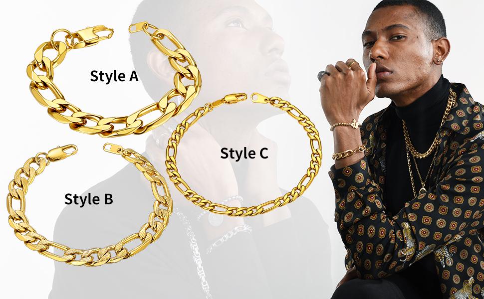 figaro men chain bracelets