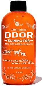 Citrus pet odor eliminator and carpet cleaner.