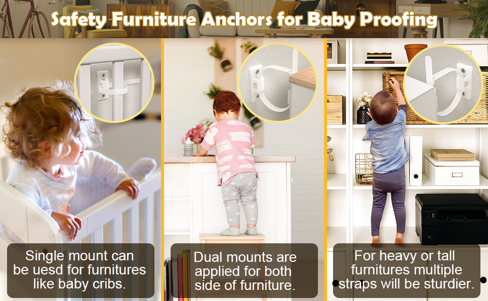 safety furniture anchors for baby proofing