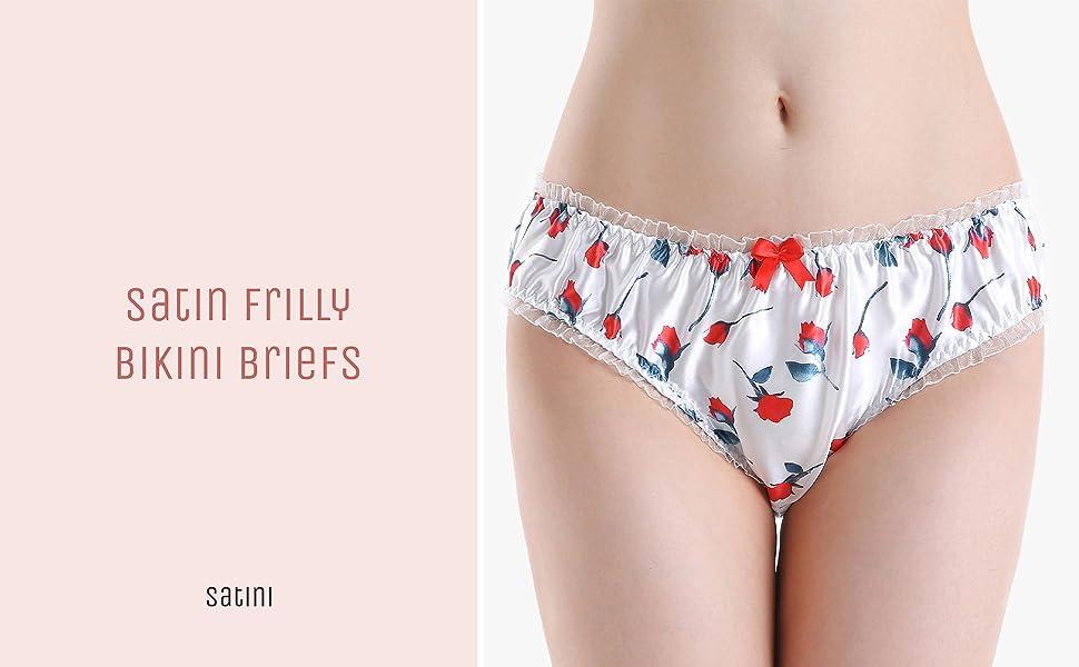 Satin Frilly Bikini Briefs