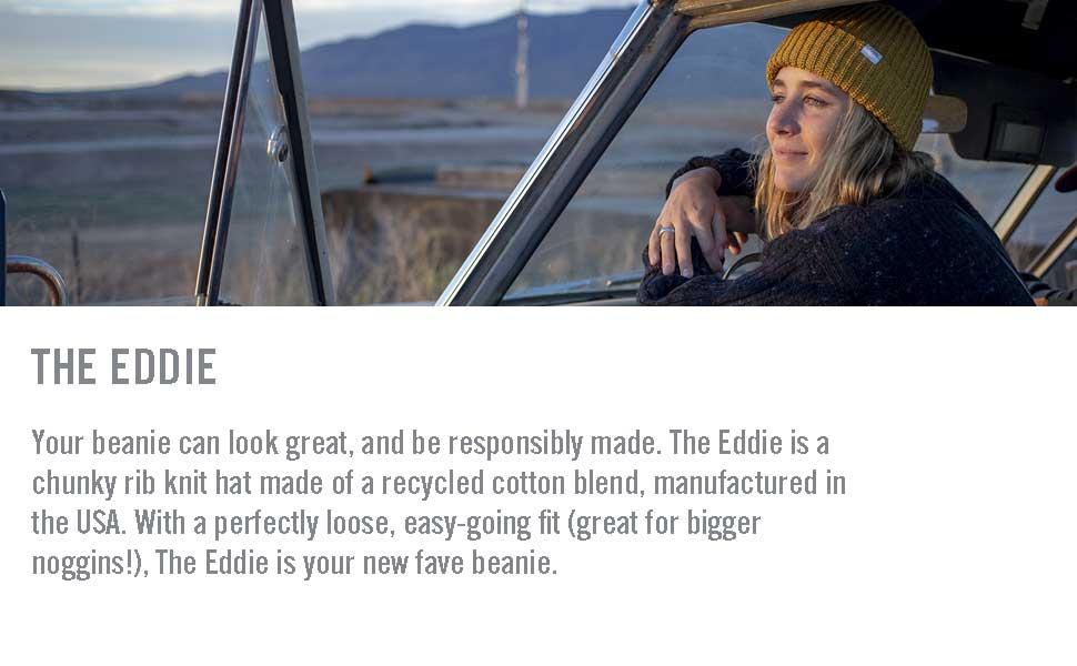 girl in car eddie beanie