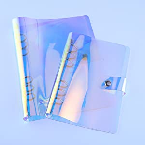 A6 PVC Binder Cover Refillable 6 Ring Binder Notebook
