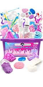 Kit Slime unicornio DIY Manualidades niñas niños regalo cumpleaños mini magico fluffy galaxy navidad