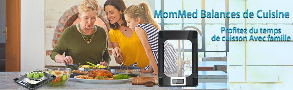 Balance cuisine, MomMed Balance de cuisine numérique avec une capacité maximale de 15 kg