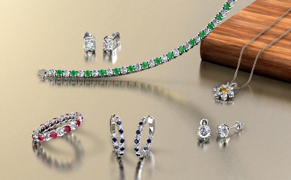 Fine Diamond Gemstone Jewelry