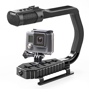 Sevenoak MicRig Handheld Stabilizer Handle Grip with Built-in Stereo Mic & SK-PL30 Video Led Lights