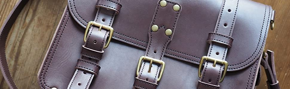 Double Space Briefcase Dark Brown Leather