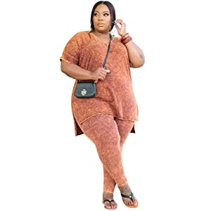 Plus size 2 piece outfits for women