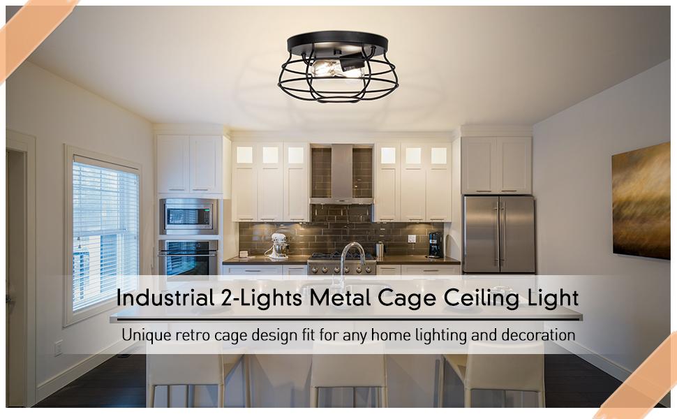 close to ceiling light