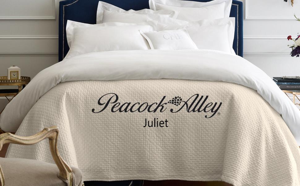 cotton bed blanket matelasse coverlet sham peacock alley juliet