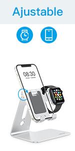 soporte para móvil y Apple Watch