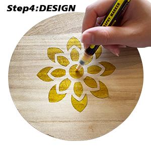 Wateralone Scorch Marker Pen para pirograf/ía 3 mm de madera f/ácil y seguro quemar madera grabado pirograbado y arte y artesan/ías