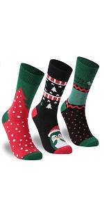 Christmas Socks, Zonent Women's Fun Colorful Crew Socks Cute Ankle Socks