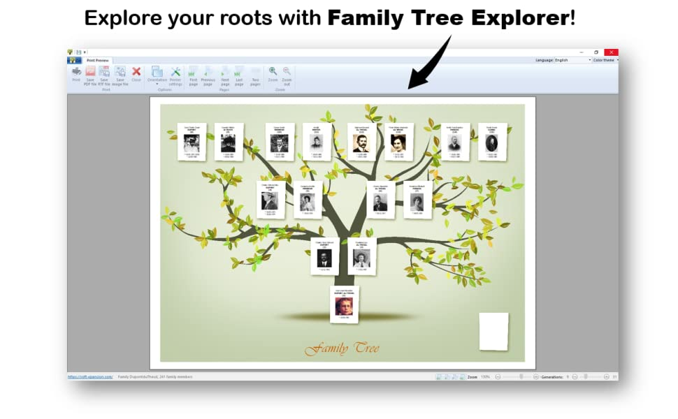 explore your roots with family tree explorer