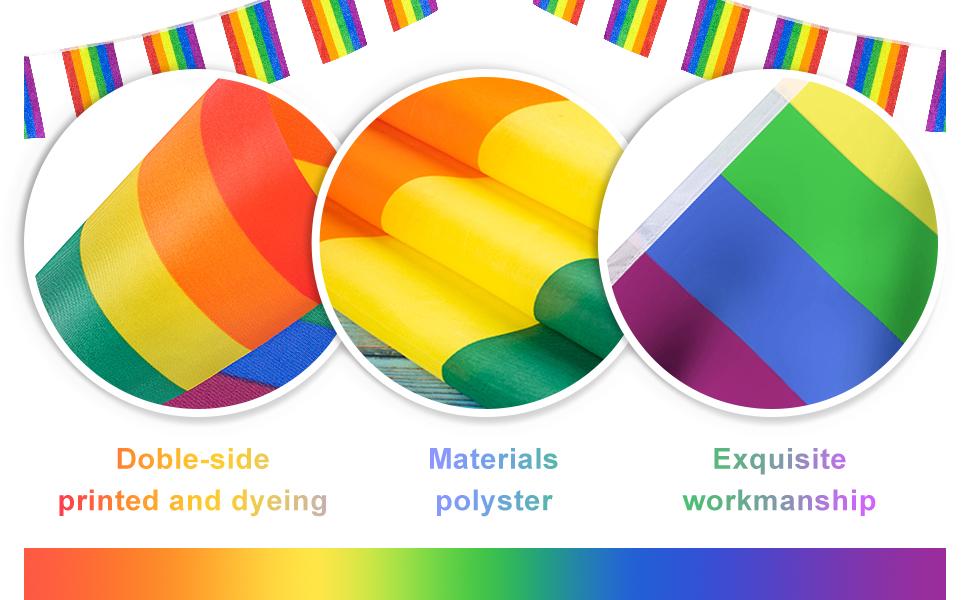 38 Flags Gay Pride Banner