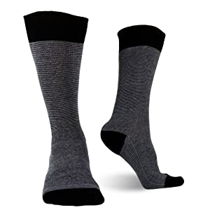 black grey cotton men dress socks for big and tall groomsmen groom business