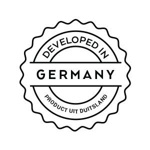 In Duitsland ontwikkeld