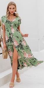 button down maxi dress