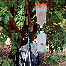 hydroblu versa flow water filter bacteria giardia backpacking filtration camping survival