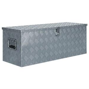 Tidyard Caja de Aluminio Herramientas Caja de Aluminio Plateado 110,5X38,5X40 Cm Plateada con 2 Asas: Amazon.es: Hogar