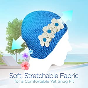 Fun Floral SwimBathing Cap made by Cap-Seal of Miami