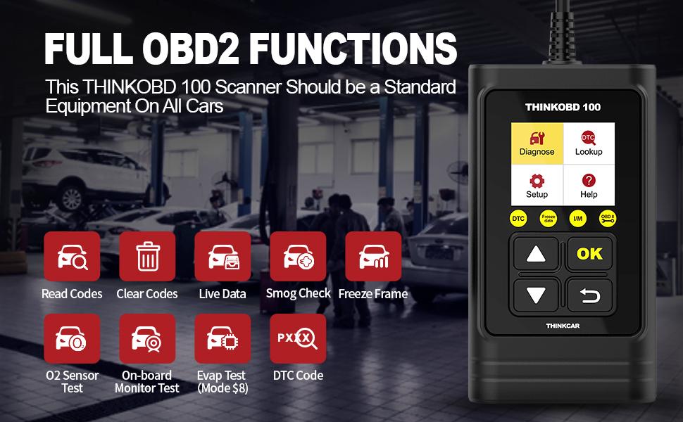 thinkobd 100 scan tool thinkcar thinkobd 100 obd2 scanner engine code readers car tools