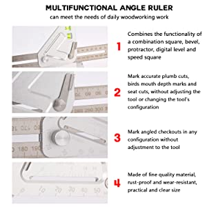 Pro Triangle Measuring Angle Ruler Better Tools Revolutionary Carpentry Marking