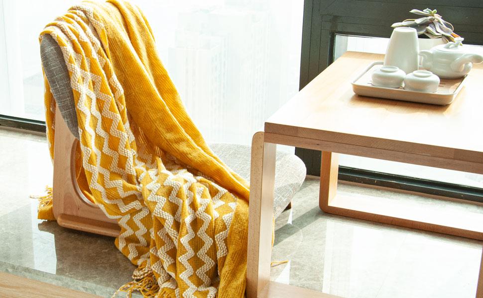 NTBAY Acrylic Blanket Knit Blanket