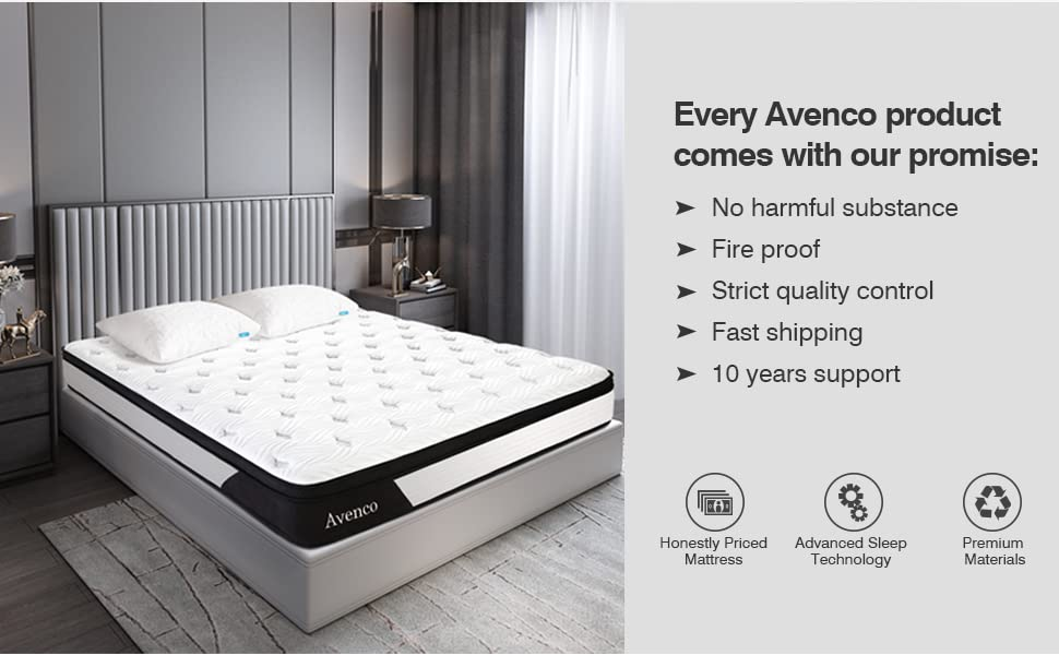Every Avenco Mattress comes with our promise: no harmful substance, fire proof, strict quality
