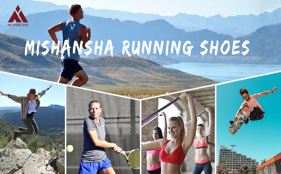 Mishansha Mixte Chaussures de Fitness Poids L/éger Homme Femme Respirantes Mesh Baskets de Running D/écontract/é Ext/érieur