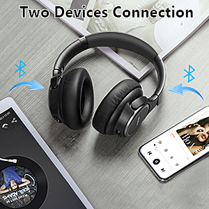 ANC Headphones  Active Noise Cancelling Headphones, AIKELA Wireless Bluetooth Over Ear Headset with Deep Bass Hi-Fi Sound Soft Earbuds 30H Playtime Fast Charging ANC Headphone for Online Class Travel Home Office b2c87f0b c0b3 476a b5c4 a67bc7a23081
