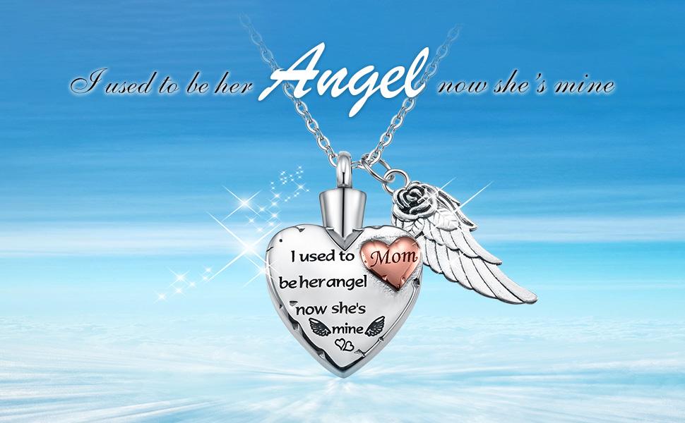 heart urn neckalce for dad mom aunt uncle