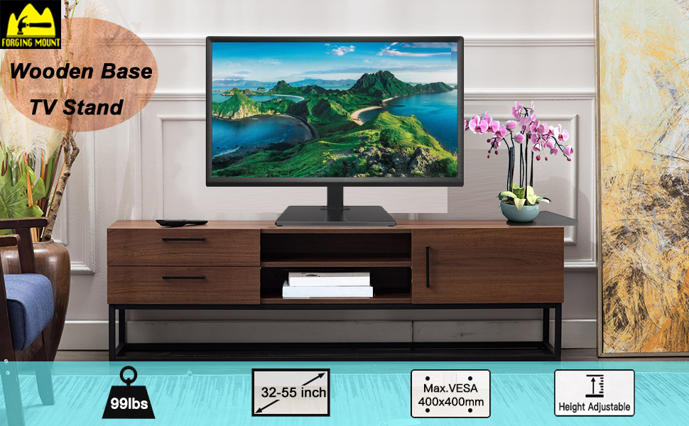 Wooden Base TV Stand