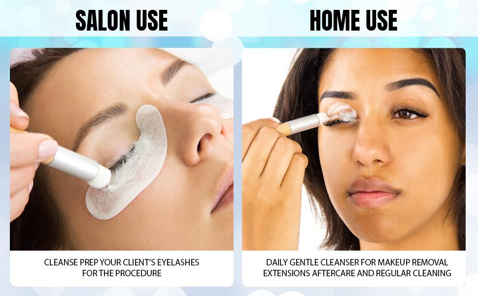 foaming cleanser wash remover lash extension sulfate primer vegan cruelty professional sensitive