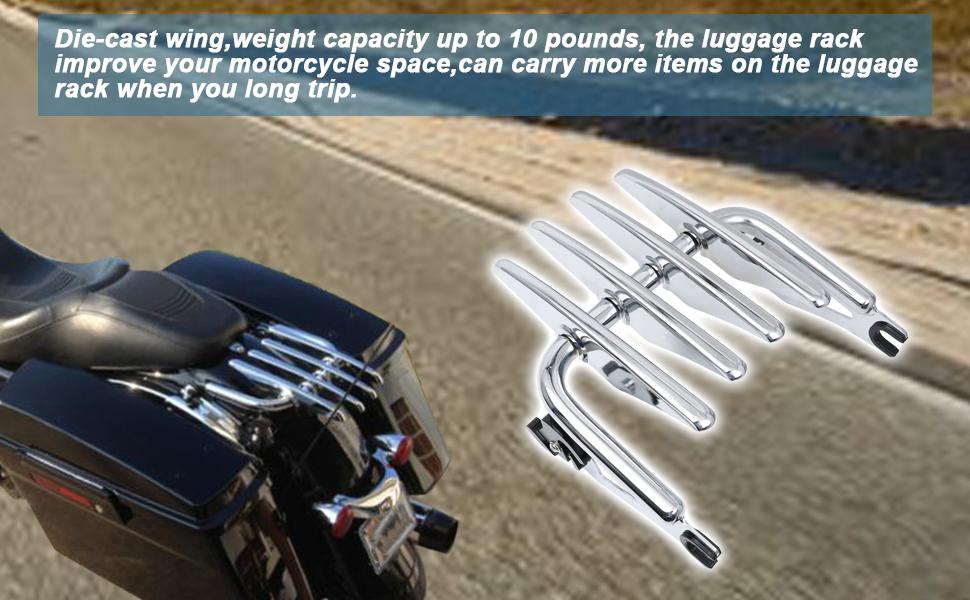 Harley touring luggage rack