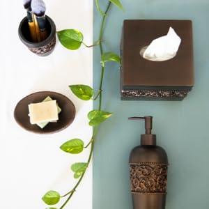 Essentra Home, bronze collection, bathroom accessory set, home accessories,