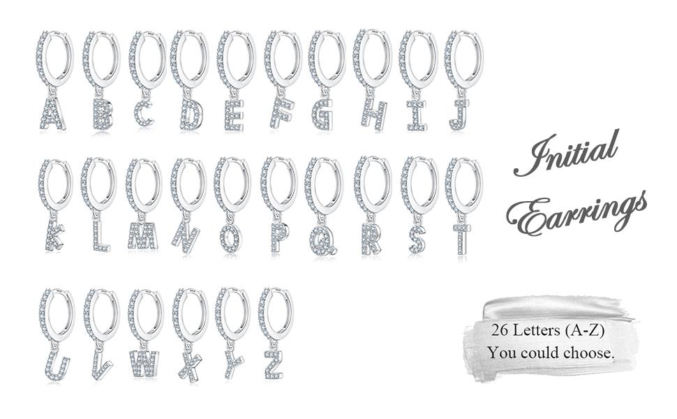 all initial hoop earrings