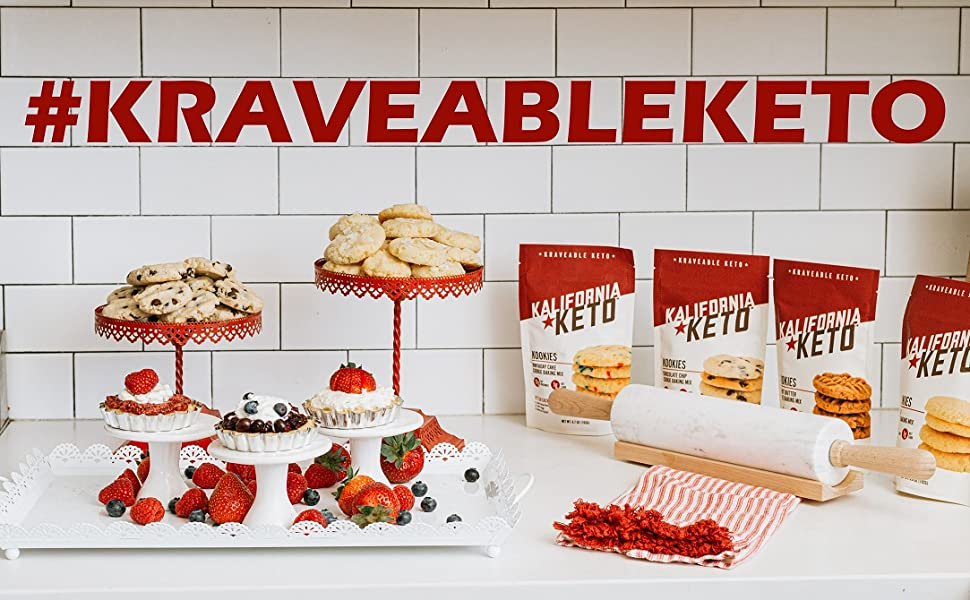 Kalifornia Keto Cookie Baking Mixes and Recipes, #KraveableKeto