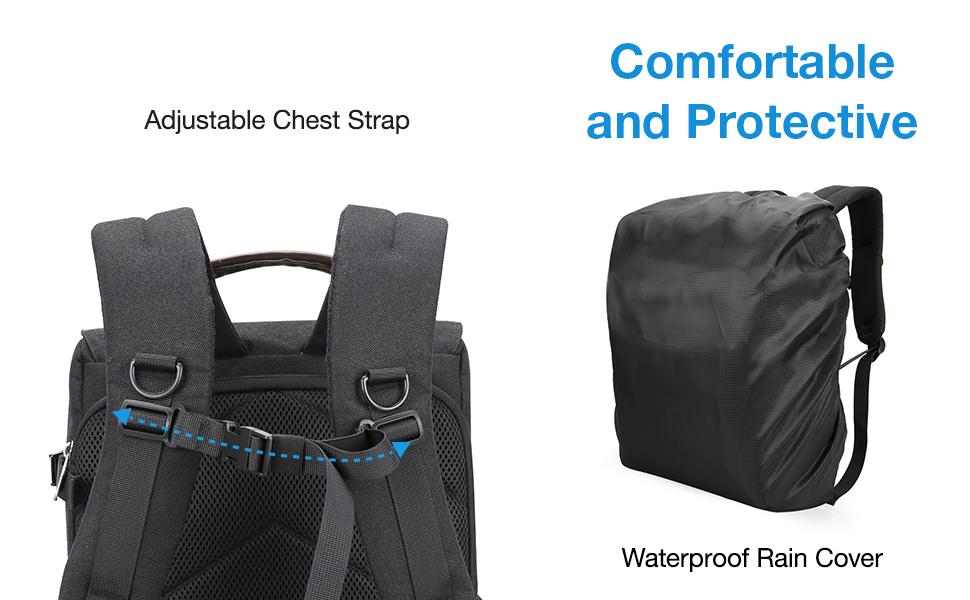Zhengtufuzhuang Multi-Functional Khaki Camera Bag Retro Large-Capacity Backpack Canvas Camera Backpack Breathable Wear Shoulder Bag //28 X 15.5 X 43cm Versatile