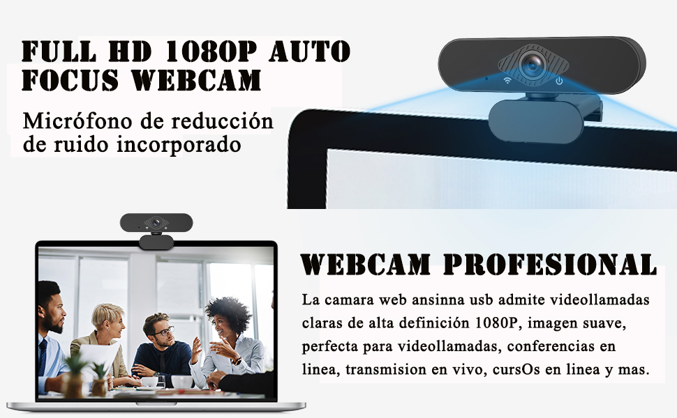 Teaisiy 1080P HD Webcam