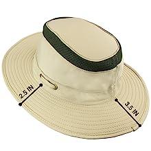 wide brim outdoor hat