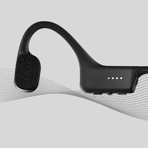 Aftershokz Xtrainerz, Auriculares MP3 de conducción ósea, Ideales para Utilizar en la práctica de la natación, con Memoria de 4GB,Black Diamond
