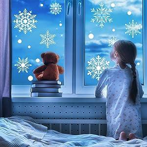 snowflake window clings for kids