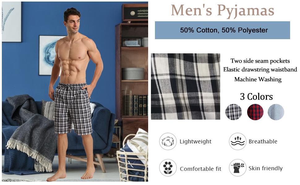 mens pyjamas shorts 2 pack