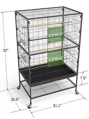 birdcages size