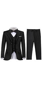 Boy Suit Toddler Black Ring Bearer Suits