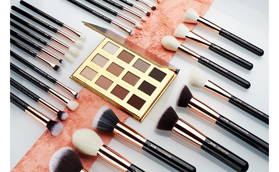 25 piece makeup brush set